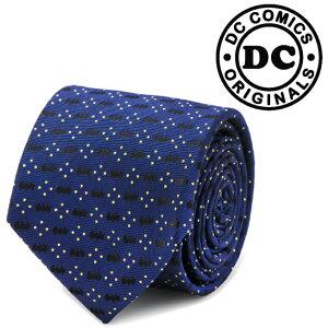 メンズ 紳士 ネクタイ シルク Batman Icon Diamond Dot Navy Mens Tie バットマン バットロゴ DC ネイビー ドット DC-BTDT-BL-TR