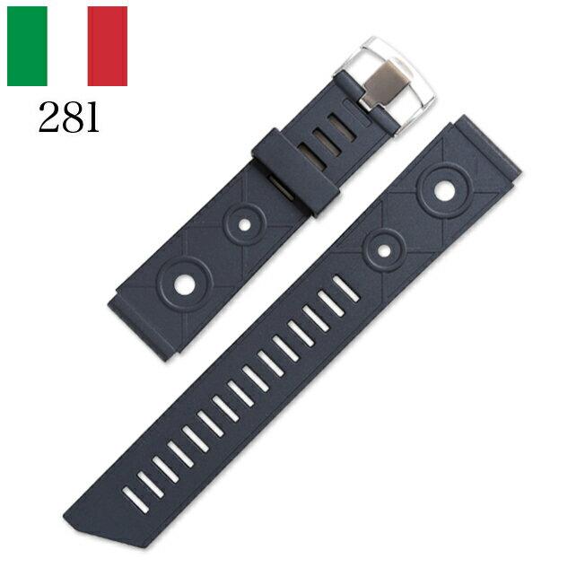 時計 腕時計 ベルト 時計バンド イタリア BC ボネットシンチュリーニ 281 ラバー素材 ストラップダイバーズ18mm 20mm 22mm ブラック