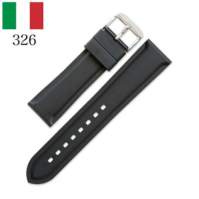 時計 腕時計 ベルト 時計バンド イタリア BC ボネットシンチュリーニ 326 ラバー素材 ストラップ 20mm 22mm ブラック
