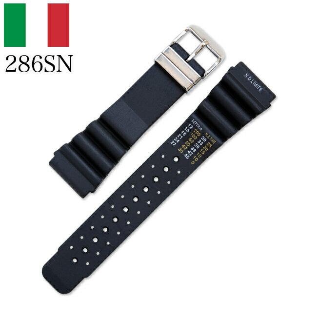 時計 腕時計 ベルト 時計バンド イタリア BC ボネットシンチュリーニ 286SN ラバー素材 ストラップ 24mm ブラック