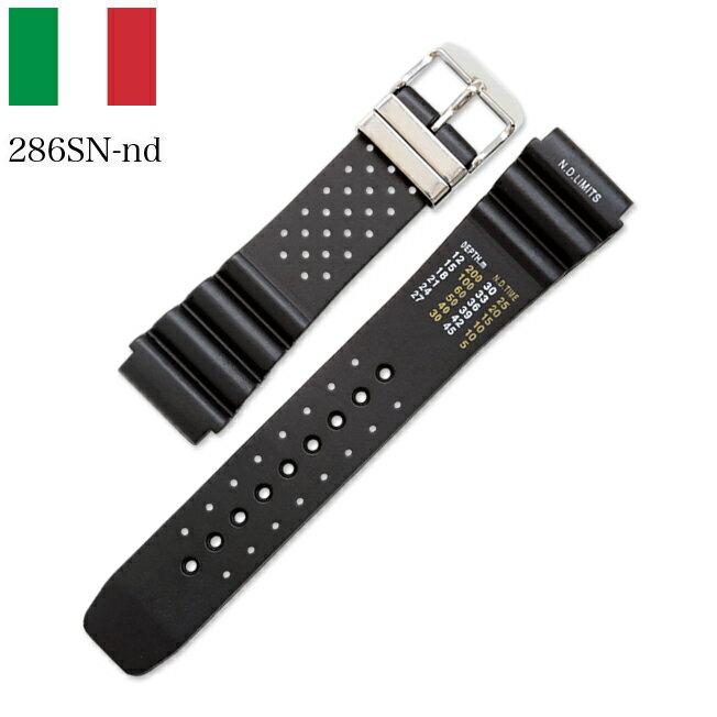 時計 腕時計 ベルト 時計バンド イタリア BC ボネットシンチュリーニ 286SN-nd ラバー素材 ストラップ 22mm ブラック