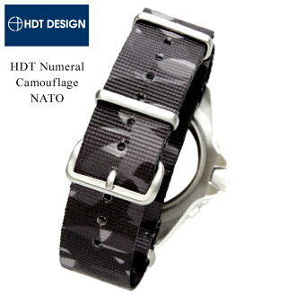 ◆ HDT ニューメラル/위장 NATO 시계 용 ・ 시계 벨트 시계 밴드 20mm22mm