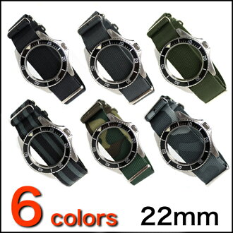 ◆ NATO 군 G10 정품 스트랩 ◆ 영국 만들어진 오버 사이즈 22mm 시계 용 ・ 시계 벨트 시계 밴드