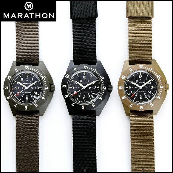 時計 腕時計 ミリタリーウォッチ アメリカ軍 MARATHON Navigator Date Pilot マラソン ナビゲーター デイト パイロット クォーツ WW194013 ファイバーグラス
