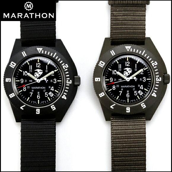 時計 腕時計 ミリタリーウォッチ アメリカ軍 MARATHON Navigator Date USMC US Marine Corps Pilot マラソン ナビゲーター デイト アメリカ海兵隊 パイロット クォーツ WW194013USMC ファイバーグラス