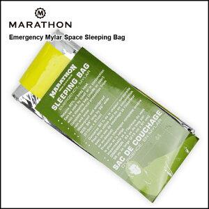 防災グッズ 防寒 耐寒 MARATHON Emergency Mylar Space Sleeping Bag エマージェンシー マイラー スペース スリーピングバッグ