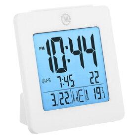 MARATHON デジタル アラームクロック 目覚まし時計 温度計 カレンダー 電池付き CL030050 マラソン
