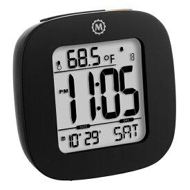 MARATHON コンパクト デジタル アラームクロック 目覚まし時計 温度計 カレンダー 電池付 CL030058 マラソン