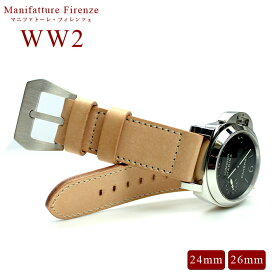 時計 ベルト 腕時計 時計バンド イタリア PANERAI パネライ PANERAI 専用 MF Special Edition WW2/ホワイト WW2 24mm 26mm ラジオミール ルミノール