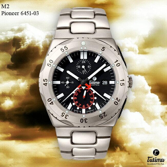 【お取寄せ】時計 腕時計 ミリタリーウォッチ ドイツ TUTIMA GLASHUTTE チュチマ・グラスヒュッテ M2 Pioneer 6451-03 自動巻き