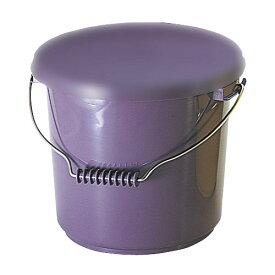 エンテック ポリプロバケツ13 (12.7L) 本体のみ 紫 PO-13A