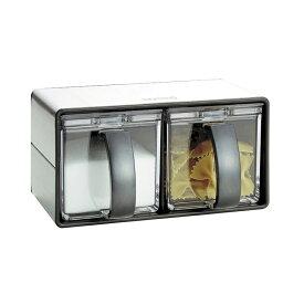 アスベル 1120 コンパクト調味料ケース2P/Nフォルマ・ステンレス2 調味料入れ 調味料入れ セット 【あす楽対応】