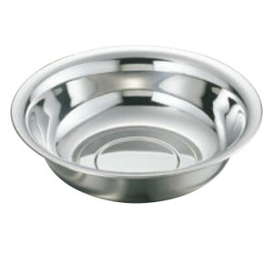 MA 18-8 ゴムリング付 洗面器(φ320)【衛生用品】【業務用】【洗面器】
