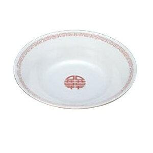 メラミン中華食器 瑞祥 冷麺皿(新型)CA-19 外赤内白【メラミン食器】【皿】【丼】