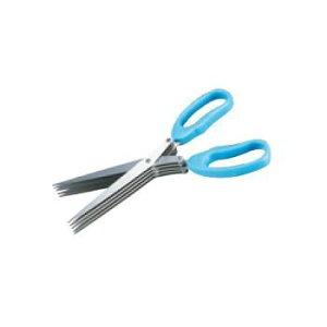 ハサミ型シュレッダー 5連刃「秘密を守りきります」ブルー【シュレッダーはさみ】【シュレッダーばさみ】【事務用品】