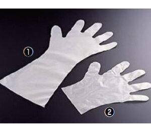 エンボス手袋 五本絞り#30 (簡易パック・ ポリエチレン製) M【使い捨て】【ビニール手袋】【業務用】