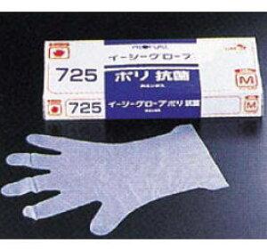 オカモト イージーグローブ ポリ抗菌手袋 No.725 (ポリエチレン製 抗菌剤入) M【使い捨て】【ビニール手袋】【業務用】