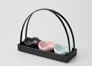 ■3個セット■桃釉 梅型珍味