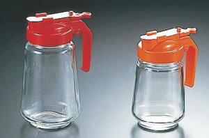 ガラス製 焼肉タレ入 350cc 赤【調味料入れ】【オイルボトル】【業務用】