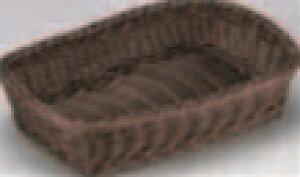 樹脂バスケット 長角30cm こげ茶【籠】【かご】【カゴ】【篭】【籐風バスケット】【M-16-69】