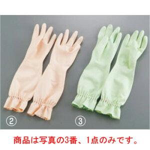 エステー 天然ゴム中厚手 手袋 ファミリーロング L グリーン【手袋】【ゴム手袋】【作業手袋】