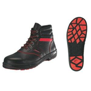 安全靴 シモンライト SL22-R 黒/赤 24.5cm【セーフティーシューズ】【安全靴】【業務用靴】