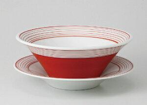 ■3個セット■レッド スクリュー8吋敷皿