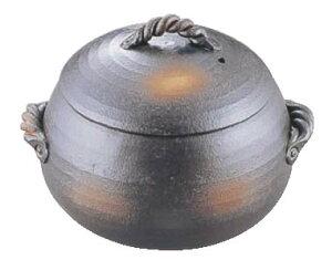 栗型ごはん炊き 黒 44-12-SL 小(3合炊)【ライスクッカー】【ライス・ボイラー】【業務用】