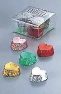 アルミ トリュフミニチュア ハート型 No.1141(30入) 【ケーキ 洋菓子焼型】【製菓用品】【使い捨てモルド カップ ラッピング】【業務用】