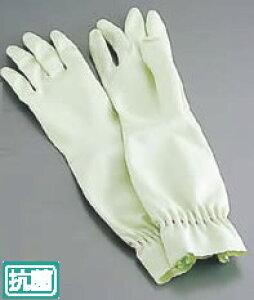 エステー ファミリー天然ゴムロング手袋 中厚手 L グリーン【手袋】【ゴム手袋】【業務用】