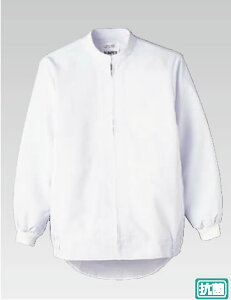 男女兼用長袖ジャンパー WA-660 SS (ホワイト)【白衣 ユニフォーム 作業着】【厨房用】【食品工場】【給食用】【飲食店用】【業務用】