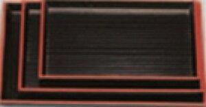 名刺盆 黒千筋天朱 7寸【お盆】【和風盆】【料理盆】【会席盆】【懐石盆】【木製盆】【トレイ】【トレー】【運び盆】【1-128-26】