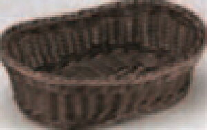 樹脂バスケット 舟型(大) こげ茶【籠】【かご】【カゴ】【篭】【籐風バスケット】【M-16-48】