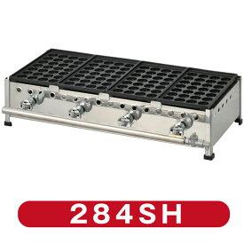 新製品 たこ焼き器28穴×4連 フチ高 鉄鋳物 284SH(代引・送料無料) 新品