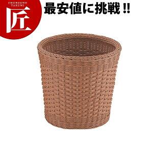 丸型ランドリーバスケット 35型 ブラウンCF-606-BR【ctss】 ラタン ポリプロピレン かご 籠 カゴ 洗濯かご 脱衣かご