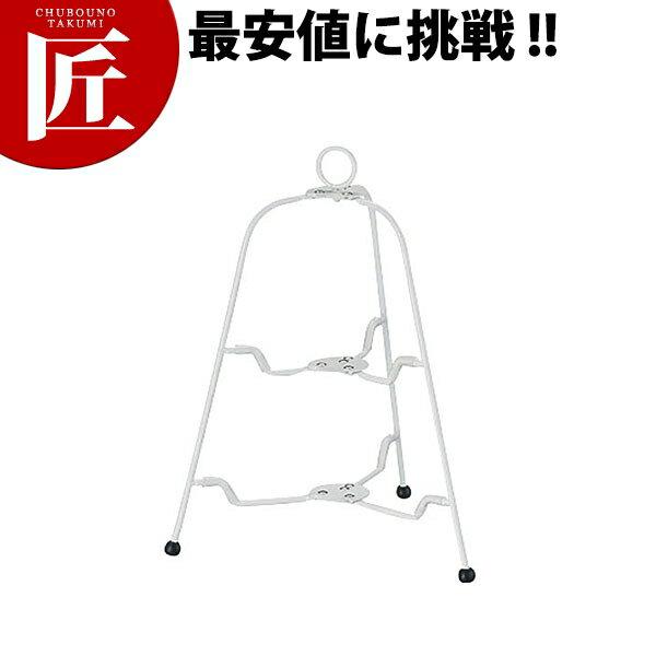 ツリー型フォーダブルスタンド 2段 ホワイト【N】