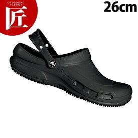 クロックス ビストロ 黒 26cm【ctss】 男女兼用 crocs bistro 業務用 領収書対応可能