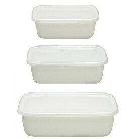 特価 野田琺瑯(Nodahoro) 保存容器 白 レクタングル深型 S・M・L ホワイトシリーズ 3サイズセット 004-06008