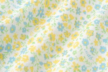 カバーオールベビー服女の子夏半袖出産祝いギフトプレゼントベビー赤ちゃん服ロンパース60cm70cm80cm小花柄ピンク黄色イエロークリームP2615チャックルベビー