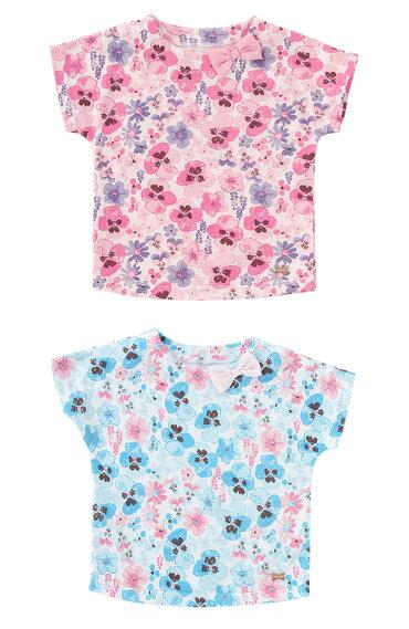 c8694cad448e1 スウィートガール花柄半袖Tシャツベビー服ベビー赤ちゃん服女の子夏夏物フレンチスリーブ