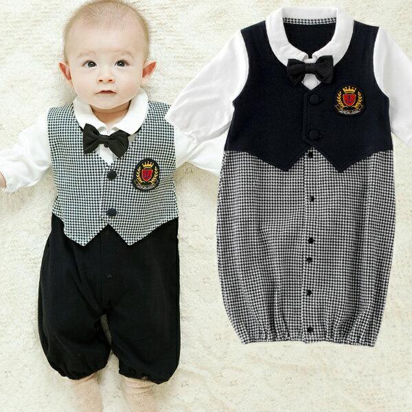フォーマル新生児ツーウェイオール赤ちゃん ベビー 服 ベビー服 新生児 ドレスカバーオール 男の子 セレモニー チャックルベビー