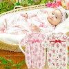 スウィートガール新生児ベビー服女の子カバーオールツーウェイオール冬秋春出産祝いギフトベビー服赤ちゃんドレス2WAYオール兼用ドレス花柄ピンクアイボリーレッド5060長袖前開きP5231Eチャックルベビー