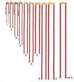ペナント[RP-14]Eサイズ 幅5cm×長さ60cm 10本セット 紅白リボン 持ち回りトロフィー 優勝カップ用ペナントリボン