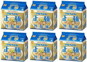 【送料無料】【5食パック×6袋】東洋水産 マルちゃん正麺旨塩味5食パック 4901990513142