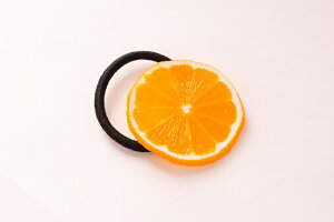 ヘアアクセサリー・ヘアゴム オレンジ 食品サンプル グッズ ハンドメイド