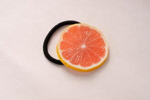 食品サンプル グッズ ヘアアクセサリー・ヘアゴム フルーツ・果物 ピンクグレープフルーツ