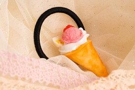 食品サンプル グッズ ヘアアクセサリー・ヘアゴム スイーツ・デザート クレープ(ピンク)