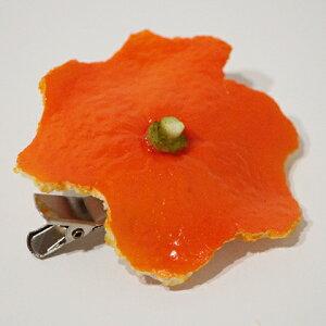 食品サンプル グッズ ブローチ・コサージュ フルーツ・果物 みかんの皮