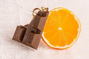 食品サンプル グッズ キーリング(キーホルダー) フルーツ・果物 オレンジ×チョコ