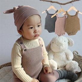 65922bd0fcc0e ベビー服 ニットスーツ ロンパース オーバーオール カバーオール サロンペット 赤ちゃん